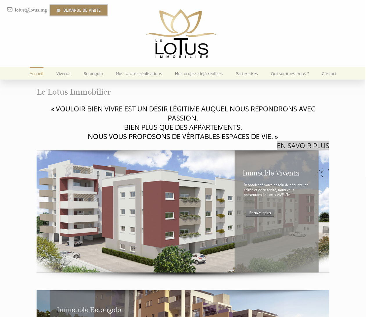 Site immobilier - Le Lotus