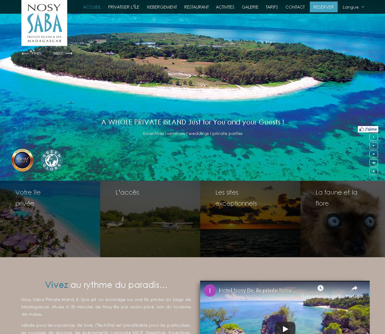 Site prémium - Nosy Saba