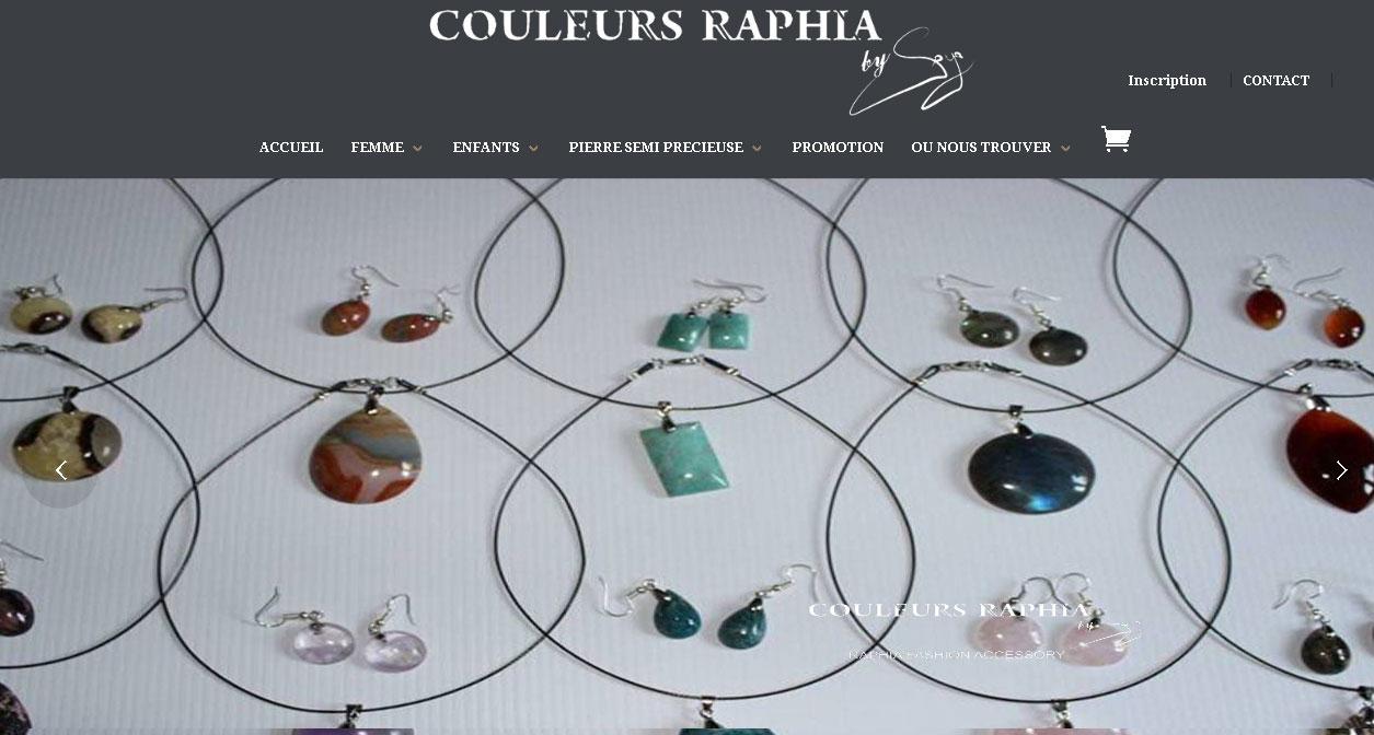 Site e-commerce - Couleurs raphia