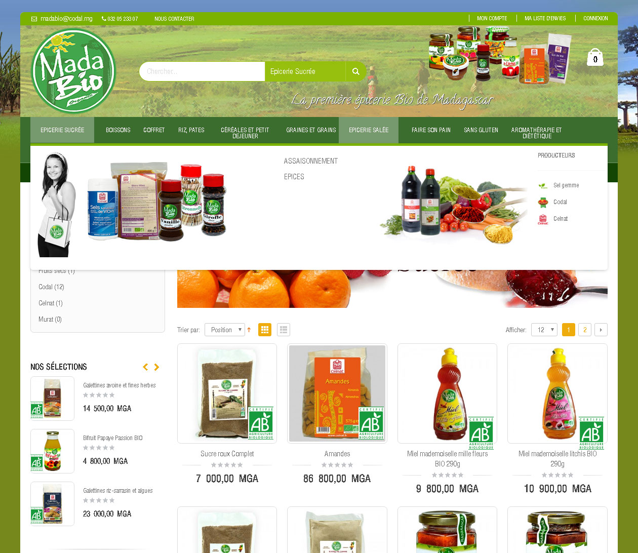 Site e-commerce - Madabio